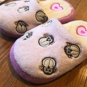 Limited Too Funky Monkey slippers